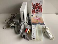 White Nintendo Wii Console HDMI HSM Dance 3 & Big Brain Academy **FREE POSTAGE**