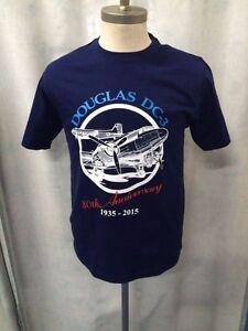 Douglas DC-3 Aircraft - Gooney Bird - T-Shirt - Navy Blue