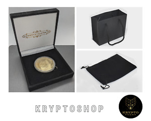 Dogecoin Gold Münze Luxusgeschenk NEU