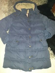 Girls Navy Winter Coat. Age 11-12yrs by fat face