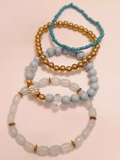 Fashion Jewellery Bracelets set of four mix small bead stretchy style