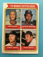 1974 TOPPS BASEBALL CARD #606 ROOKIE OUTFIELDERS