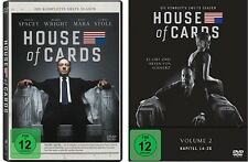 8 DVDs * HOUSE OF CARDS - STAFFEL 1 + 2 IM SET - Kevin Spacey # NEU OVP <