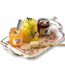 DOLLHOUSE Honey Jar Set 1.738/8 Reutter Porcelain Classic Rose Miniature
