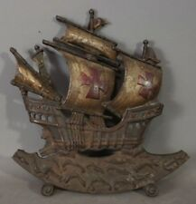 Antique ART DECO Era CAST IRON Maritime CLIPPER SHIP Old NAUTICAL SPEAKER COVER