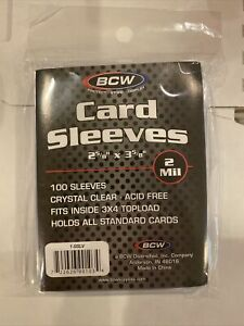 2500 Quality plastic SOFT PENNY CARD SLEEVES for 3x4 Top Loaders BCW