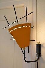 Magnifique lampe applique mikado double face en acier noir et orange DESIGN 50'S