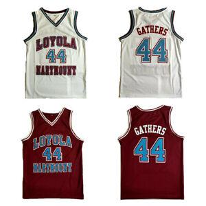 VTG Hank Gathers #44 Basketball Jersey Stitched Red White