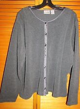Fashion Bug Cardigan Sweater women's Size 22/24 /Gray button front Used