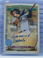 2020 Gypsy Queen Gio Urshela Auto Autograph Yankees Q11