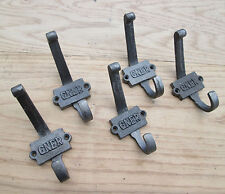 5 X GNER Industrial vintage style cast iron coat hook railway coat hanging rack