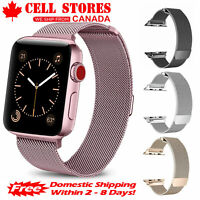 Stainless Steel Magnetic Metal Mesh Band for Apple Watch iWatch Series 38-44mm