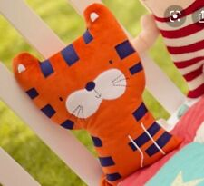 "BNWT Bizzi Growin Tiger Jungle Nursery Toddler Cushion Soft Plush 12"""