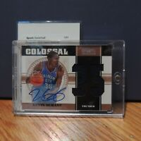 2011 Kevin Durant Auto Patch On Card National Treasures Colossal #4/6