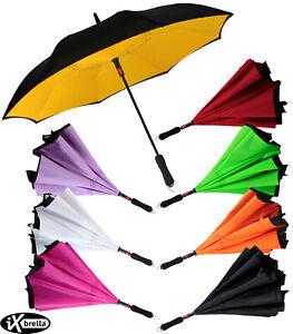 iX-brella Reverse Automatik Regenschirm Damen umgekehrt umgedreht zu öffnen groß