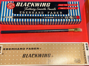 1 Vintage Eberhard Faber Blackwing 602 Woodclinched Pencil Brand New.