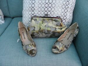Ladies Kaleidoscope Shoes & Handbag Size 4