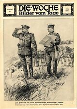 Zar Ferdinand mit seinem Generalstabschef Fitsches Kriegszeichnungen von 1912
