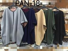 Wholesale Joblot Woman Ladies Clothing Cape Poncho Reverceable 4pcs mix 1 Size