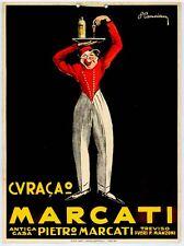 Cancian-MARCATI-CURACAO Locandina originale del 1929-Aperitivo TREVISO Zoppelli