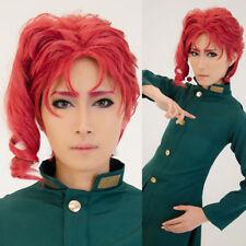 JoJo's Bizarre Adventure Noriaki Kakyoin Cosplay Wig Anime Party Red Short 30cm