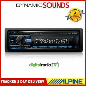 Alpine UTE-204DAB Mechless DAB+ Car Stereo Radio Bluetooth MP3 FLAC USB AUX EQ