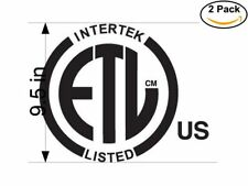 etl safety logo 2 Stickers 9.5 Inches Sticker Decal