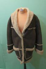 Lamm Fell Mantel Vintage-Mille-Uno Gr 38/M echt Leder braun Shearling Damen*