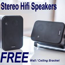 New 2 x Wall Ceiling HIFI Surround Speakers With Free Mounting Brackets 100.005