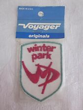 Vintage Embroidered Winter Park Patch Voyager Brand NOS Made in USA