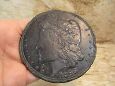 "1896 Bryan Dollar, Political Satire Token, 3.25"" 150.7 grams"