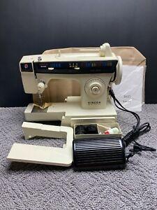 Vintage Singer Sewing Machine Merritt 2430 Model Deluxe Free Arm w/ Instructions