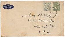 U129 1913 * Jamaica * Nueva York USA Cubierta {samwells-Cubierta} Pts