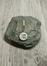 I Can and I Will Charm For Mobile Phone. Tablet. Ipad. Iphone. Dust Plug.