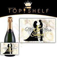 personalised wine champagne prosecco cava bottle label wedding engagement gift