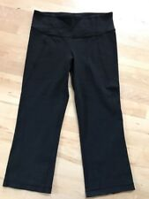 Lululemon Gather And Crow Crops Black Size 4