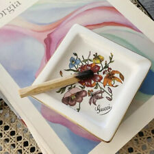 Gucci Vintage Floral Ashtray Trinket Dish Jewelry Tiger Lily 80s