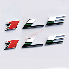 2x OEM Chrome Red 1LE Emblems 3D Alloy Badge for GM 2010-15 CAMARO 1LE LU