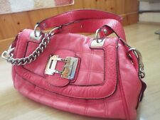 Guess handbag pink with great detail in good condition