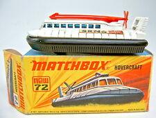 "MATCHBOX SF N. 72b hovercraft ""no. 72 & 2"" piastra di base in box"