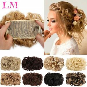 Curly Messy Bun Hair Piece Hair Updo Cover Real Hair Accessories For Women