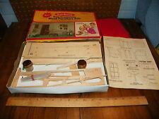 """1974 REALIFE MINATURES Wood Furniture Doll House Kit """"Heritage Living Room"""" NIP"""