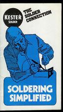 Orig Factory 1983 Kester Solder Simplified Soldering Iron Instruction Booklet