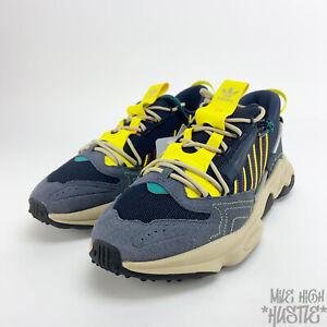 adidas Originals Ozweego Zip Men's Size 11.5 Yellow Blue Sneakers