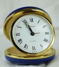 Vintage German Made Brass Cased Travel Alarm Clock Vantage Wind Up Working