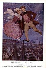 Schattendorf (Heinrich Federer) Illustrationsprobe kunstdruck c.1905