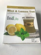Flavoured Instant Drink -Hot Or Cold Mint & Lemon Tea- Powder - 200g - Free UK P