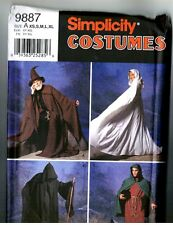 Simplicity 9887 Grim Reaper Wiccan Costume Long Hooded Robe Pattern XS S M L XL