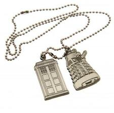 Doctor Who Dog Tags BOYS GIRLS PENDANT NECKLACE FUN Birthday Present Gift Idea