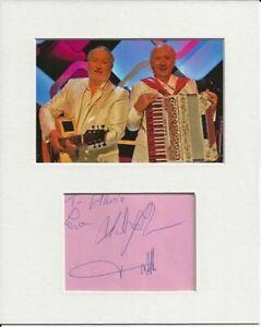Foster and Allen music signed genuine authentic autograph signature AFTAL COA